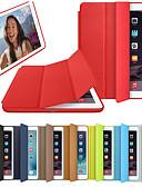 billige iPad-etui-Etui Til Apple iPad Air / iPad 4/3/2 / iPad (2018) Flipp / Origami / Magnetisk Heldekkende etui Ensfarget Hard PU Leather / iPad (2017) / iPad Pro 10.5