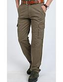 Χαμηλού Κόστους Μακριά Φορέματα-Ανδρικά Βασικό / Στρατιωτικό Καθημερινά Αθλητικά Φαρδιά Chinos / Φορέματα φορτίου Παντελόνι - Μονόχρωμο Βασικό Μαύρο Πράσινο Χακί Χακί 38 35 42