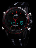 Χαμηλού Κόστους Ψηφιακά Ρολόγια-ASJ Ανδρικά Αθλητικό Ρολόι Ψηφιακό ρολόι Ιαπωνικά Συνθετικό δέρμα με επένδυση Μαύρο Συναγερμός Ημερολόγιο Φωτίζει Αναλογικό-Ψηφιακό Πολυτέλεια - Λευκό Κόκκινο Μπλε Ενας χρόνος Διάρκεια Ζωής Μπαταρίας