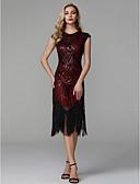 Χαμηλού Κόστους Βραδινά Φορέματα-Ίσια Γραμμή Με Κόσμημα Ασύμμετρο Πολυεστέρας Κομψό & Μοντέρνο / Φανταχτερό / Μικρό Μαύρο Φόρεμα Κοκτέιλ Πάρτι / Χοροεσπερίδα Φόρεμα 2020 με Πούλιες