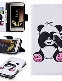 ราคาถูก เคสสำหรับโทรศัพท์มือถือ-Case สำหรับ Samsung Galaxy J7 (2017) / J5 (2017) / J5 (2016) Wallet / Card Holder / with Stand ตัวกระเป๋าเต็ม Panda Hard หนัง PU