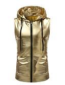 ราคาถูก เสื้อยืดและเสื้อกล้ามผู้ชาย-สำหรับผู้ชาย เสื้อกล้าม พื้นฐาน ฮู้ด สีพื้น สีทอง / เสื้อไม่มีแขน