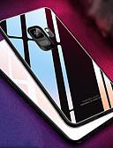 baratos Acessórios para Samsung-Capinha Para Samsung Galaxy S9 / S9 Plus / S8 Plus Espelho Capa traseira Sólido Rígida Vidro Temperado