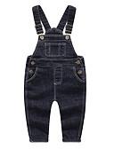 ราคาถูก กางเกงชั้นในเด็กเล็กผู้ชาย-ทารก เด็กผู้ชาย พื้นฐาน ทุกวัน สีพื้น ฝ้าย ชุดเอี๊ยมและชุดหมี สีดำ / Toddler