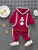 billige Sett med Gutter babyklær-Baby Gutt Vintage Daglig Tusenfryd Ensfarget Flettet Kortermet Normal Normal Lin Tøysett Navyblå