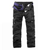 ราคาถูก เสื้อเชิ้ตผู้ชาย-สำหรับผู้ชาย พื้นฐาน ทุกวัน Sport กางเกง Chinos / Cargo Pants กางเกง - สีพื้น สีดำ อาร์มี่ กรีน ใบไม้สีเขียวที่มีสามแฉก 28 29 30