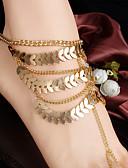 Χαμηλού Κόστους Quartz Ρολόγια-Γυναικεία Σανδάλια για γυμνό πόδι Στοιβαζόμενη Leaf Shape Μοντέρνο κυρίες Βίντατζ Μοντέρνα Βραχιόλι αστραγάλου Κοσμήματα Χρυσό Για Αργίες Εξόδου