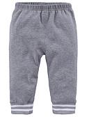 ราคาถูก กางเกงชั้นในเด็กเล็กผู้ชาย-ทารก เด็กผู้ชาย พื้นฐาน ทุกวัน ลายพิมพ์ ลายพิมพ์ ฝ้าย กางเกงขายาว สีดำ / Toddler