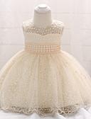 זול שמלות לבנות-שמלה כותנה עד הברך ללא שרוולים אחיד ליציאה וינטאג' בנות תִינוֹק