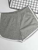 ราคาถูก กางเกงผู้หญิง-สำหรับผู้หญิง Street Chic ทุกวัน กางเกงขาสั้น กางเกง - สีพื้น ทับทิม สีแดงชมพู สีเทา S M L