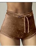 baratos Calças Femininas-Mulheres Final de semana Delgado Shorts Calças - Sólido Preto Rosa Vinho M L XL