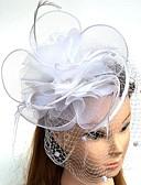 baratos Vestidos para as Mães dos Noivos-Pena / Rede Fascinadores / Chapéus / Peça para Cabeça com Penas / Floral / Flor 1pç Casamento / Ocasião Especial Capacete