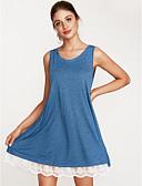 Χαμηλού Κόστους Φορέματα NYE-Γυναικεία Βασικό Γραμμή Α Φόρεμα - Μονόχρωμο Πάνω από το Γόνατο Μαύρο