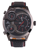 ราคาถูก นาฬิกาข้อมือหรูหรา-SHI WEI BAO สำหรับผู้ชาย นาฬิกาแนวสปอร์ต นาฬิกาทหาร นาฬิกา Navy Seal ญี่ปุ่น นาฬิกาอิเล็กทรอนิกส์ (Quartz) หนัง ดำ แสดงสามเวลา ปุ่มหมุนขนาดใหญ่ ระบบอนาล็อก ความหรูหรา แฟชั่น - สีดำ + กุหลาบแดง
