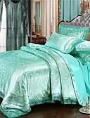 billige Tights til damer-Lyseblå Luksus Polyester Mønstret 4 delerBedding Sets / 300 / 4stk (1 Dynebetræk, 1 Lagen, 2 Pudebetræk)