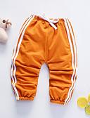 ราคาถูก กางเกงชั้นในเด็กเล็กผู้ชาย-ทารก เด็กผู้ชาย ซึ่งทำงานอยู่ ทุกวัน สีน้ำเงิน &สีขาว สีพื้น รอยจีบ แขนสั้น ผ้าลินิน กางเกงขายาว ส้ม / Toddler