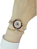 povoljno Kvarcni satovi-Žene Sat uz haljinu Diamond Watch Zlatni sat Japanski Kvarc Nehrđajući čelik Srebro 50 m Kreativan Analog dame Elegantno - Zlato Pink Jedna godina Baterija Život