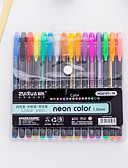 povoljno Muški satovi-gel olovka pero pero, Plastika Multi-color tinta boje Za Školski pribor Uredski pribor Pakiranje od 16 pcs