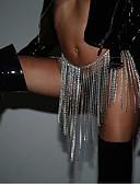 Χαμηλού Κόστους Bomber Jackets-Γυναικεία Κοσμήματα Σώματος 80+42 cm Body Αλυσίδα / κοιλιά Αλυσίδα Χρυσό / Ασημί κυρίες / Στυλάτο / Πολυτέλεια Στρας Κοστούμια Κοσμήματα Για Κλαμπ / Μπικίνι Καλοκαίρι
