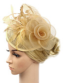 ราคาถูก เครื่องประดับผมผู้หญิง-สำหรับผู้หญิง Kentucky Derby วินเทจ สง่างาม ผ้า Cubic Zirconia ฮารด์แวร์ หมวก งานแต่งงาน ปาร์ตี้ - สีพื้น / ทุกฤดู