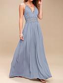 olcso Női ruhák-Női Szabadság Alkalmi Utcai sikk Ízléses Pamut Vékony Hüvely Swing Ruha - Kivágott, Egyszínű Maxi V-alakú