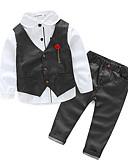 olcso Bébi Fiúknak ruházat-Baba Fiú Punk & Gótikus Szabadság Egyszínű Hosszú ujj Szokványos Pamut Ruházat szett Szürke / Kisgyermek