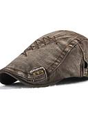 Χαμηλού Κόστους Men's Hats-Γιούνισεξ Συνδυασμός Χρωμάτων Βασικό Βαμβάκι Ντένιμ Μπερές Όλες οι εποχές Μαύρο Πράσινο Χακί Θαλασσί