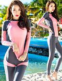povoljno Smokinzi-Žene Ronilačko odijelo kože Ronilačka odijela UV zaštitu od sunca Quick dry UPF50+ Kompletna maska 3 dijela - Plivanje Ronjenje Vodeni sportovi Proljeće & Jesen Ljeto