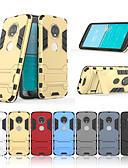 baratos Outro caso de telefone-Capinha Para Motorola MOTO G6 / Moto G6 Plus Com Suporte Capa traseira Sólido Rígida PC