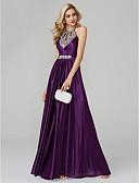 Χαμηλού Κόστους Βραδινά Φορέματα-Γραμμή Α Δένει στο Λαιμό Μακρύ Μετάξι Φανταχτερό / Όμορφη Πλάτη / Κομψό Χοροεσπερίδα / Επίσημο Βραδινό Φόρεμα 2020 με Πούλιες / Πιασίματα / Κλειδαρότρυπα / Με κοψίματα