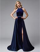 povoljno Večernje haljine-A-kroj Ovalni izrez Jako kratki šlep Saten / Baršun Prom / Formalna večer Haljina s Prednji izrez po TS Couture®
