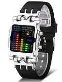 ราคาถูก นาฬิกากีฬา-สำหรับผู้ชาย นาฬิกาแนวสปอร์ต นาฬิกาทหาร นาฬิกาดิจิตอล ญี่ปุ่น ดิจิตอล สแตนเลส ดำ 30 m Creative ดีไซน์มาใหม่ เรืองแสง ดิจิตอล ความหรูหรา กำไล - สีดำ สีเงิน หนึ่งปี อายุการใช้งานแบตเตอรี่