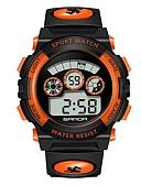 رخيصةأون ساعات رقمية-SANDA رجالي نسائي ساعة رياضية ساعة رقمية ياباني رقمي جلد اصطناعي أسود 30 m مقاوم للماء رزنامه ساعة التوقف رقمي كرتون موضة - أصفر أحمر أزرق / قضية / المرحلة القمر