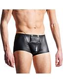 baratos Moda Íntima Exótica para Homens-Homens Básico Sexy Cueca Boxer - Normal, Sólido Cintura Baixa Preto M L XL / Verão