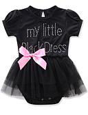 זול אוברולים טריים לתינוקות-חליפת גוף שרוול קצר רשת אחיד חגים פעיל / סגנון רחוב בנות תִינוֹק / פעוטות