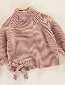 povoljno Džemperi i kardigani za djevojčice-Djeca Djevojčice Osnovni Jednobojni Dugih rukava Džemper i kardigan Blushing Pink