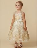 ราคาถูก เดรสสาวดอกไม้-เจ้าหญิง เสมอเข่า ชุดสาวดอกไม้ - ลูกไม้ เสื้อไม่มีแขน อัญมณี กับ เข็มขัด โดย LAN TING BRIDE®