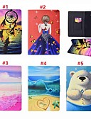 ราคาถูก เคสสำหรับโทรศัพท์มือถือ-Case สำหรับ Samsung Galaxy Tab A 8.0 (2017) Card Holder / with Stand / ปิด / เปิดอัตโนมัติ ตัวกระเป๋าเต็ม Sexy Lady / สัตว์ / จับฝัน Hard หนัง PU