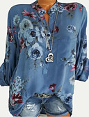 billige Bluser-Skjorte Dame - Blomstret Ut på byen Hvit