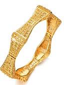 baratos Relógios de quartzo-Mulheres Bracelete Pulseiras Algema Escultura senhoras Étnico Chapeado Dourado Pulseira de jóias Dourado Para Festa Presente