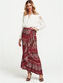 ราคาถูก เสื้อเชิ้ตสำหรับสุภาพสตรี-สำหรับผู้หญิง หางเมอร์เมด ฮอลิเดย์ โบโฮ ไม่สมดุล กระโปรง - ลายโค้ง สีน้ำเงิน ทับทิม ไวน์ ขนาดเดียว