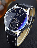 זול שמלות לבנות-ASJ בגדי ריקוד גברים שעוני שמלה שעון יד קווארץ עור חום עמיד במים אנלוגי קלסי יום יומי - כחול שחור שחור / לבן שנה אחת חיי סוללה / SRUO SR626SW