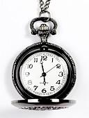 ราคาถูก นาฬิกาพก-สำหรับผู้ชาย นาฬิกาแบบพกพา นาฬิกาอิเล็กทรอนิกส์ (Quartz) สแตนเลส ทองแดง แกะสลักกลวง ระบบอนาล็อก แฟชั่น - สีดำ