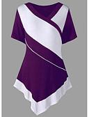 billige Skjorter til damer-V-hals T-skjorte Dame - Fargeblokk Ut på byen Svart