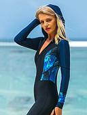 ราคาถูก ชุดดำน้ำ-SBART สำหรับผู้หญิง ดำน้ำที่เหมาะกับสภาพผิว ชุดดำน้ำ ระบายอากาศ แห้งเร็ว Full Body ซิปรูดด้านหน้า - การว่ายน้ำ การดำน้ำ Surfing ลายต่อ / ความยืดหยุ่นสูง
