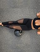 billige Gensere til damer-Dame Gjennomsiktig Yogabukser Klassisk Spandex Netting Zumba Løp Dans Tights Leggings Sportsklær Pustende Myk Svettereduserende Bekvem Elastisk