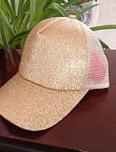 Χαμηλού Κόστους Καπέλα του μπέιζμπολ-Γυναικεία Patchwork Πάρτι Ενεργό Βαμβάκι Πολυεστέρας Δίχτυ-Τζόκεϊ Καλοκαίρι Φθινόπωρο Κίτρινο Φούξια Βαθυγάλαζο