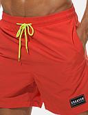 ราคาถูก กางเกงผู้ชาย-สำหรับผู้ชาย สไตล์ชายหาด / Tropical ขนาดพิเศษ ทุกวัน ชายหาด กางเกง Chinos / กางเกงขาสั้น กางเกง - สีพื้น / ลายตัวอักษร ปัก / ลายพิมพ์ ฤดูร้อน ส้ม สีเหลือง สีเขียวอ่อน XXL XXXL XXXXL