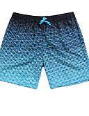 ราคาถูก ชุดลำลองชาย-สำหรับผู้ชาย สีฟ้า Boy Leg กางเกงว่ายน้ำ ชุดว่ายน้ำ - รูปเรขาคณิต L XL XXL สีฟ้า