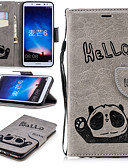 billige Etuier/deksler til Huawei-Etui Til Huawei Mate 10 lite Lommebok / Kortholder / med stativ Heldekkende etui Panda Hard PU Leather